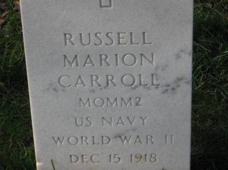CARROLL, RUSSELL MARION - Lee County, Iowa | RUSSELL MARION CARROLL