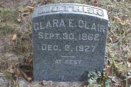 CLAIR, CLARA E. - Lee County, Iowa | CLARA E. CLAIR