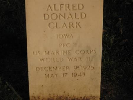 CLARK, ALFRED  DONALD - Lee County, Iowa   ALFRED  DONALD CLARK