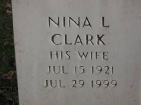 CLARK, NINA   L. - Lee County, Iowa   NINA   L. CLARK