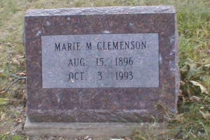 CLEMENSON, MARIE M. - Lee County, Iowa | MARIE M. CLEMENSON