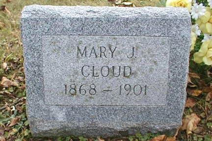 CLOUD, MARY J. - Lee County, Iowa   MARY J. CLOUD