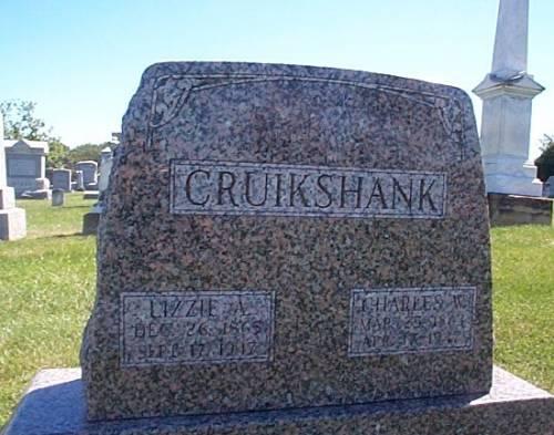 CRUIKSHANK, LIZZIE A. & CHARLES W. - Lee County, Iowa | LIZZIE A. & CHARLES W. CRUIKSHANK