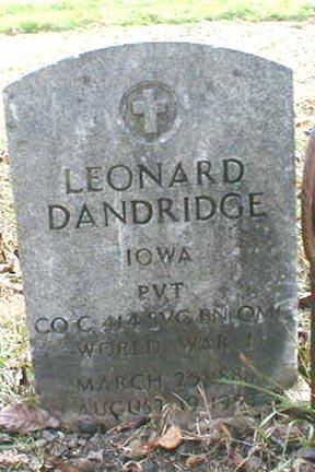 DANDRIDGE, LEONARD - Lee County, Iowa | LEONARD DANDRIDGE