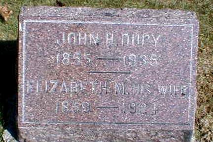DUPY, ELIZABETH M. - Lee County, Iowa | ELIZABETH M. DUPY