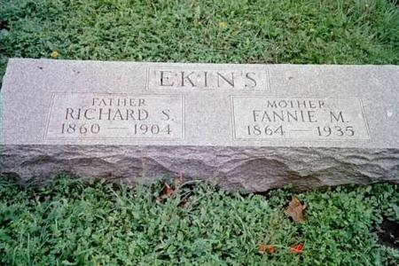 EKINS, RICHARD S. & FANNIE M. - Lee County, Iowa | RICHARD S. & FANNIE M. EKINS