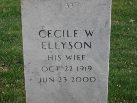 ELLYSON, CECILE  W. - Lee County, Iowa | CECILE  W. ELLYSON