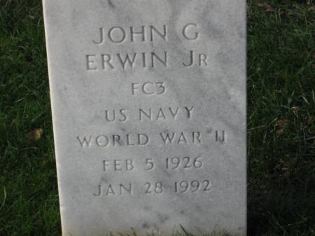 ERWIN,  JR., JOHN  G. - Lee County, Iowa | JOHN  G. ERWIN,  JR.