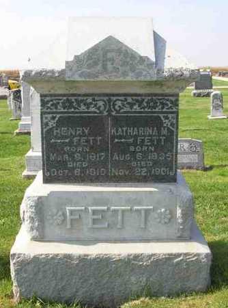 FETT, KATHARINA M - Lee County, Iowa | KATHARINA M FETT