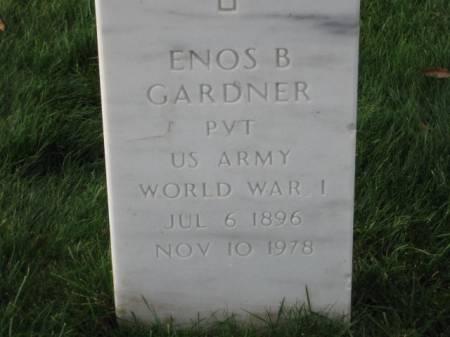 GARDNER, ENOS   B. - Lee County, Iowa   ENOS   B. GARDNER