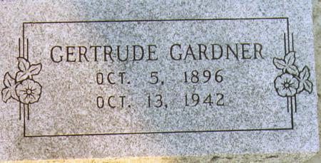 GARDNER, GERTRUDE - Lee County, Iowa   GERTRUDE GARDNER