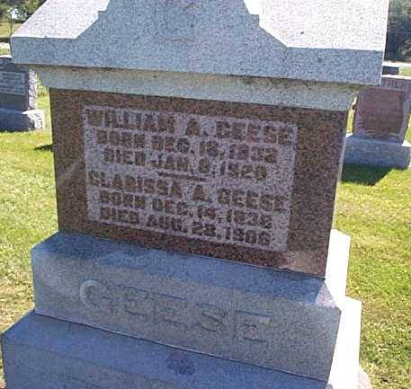 GEESE, WILLIAM A. & CLARISSA A. - Lee County, Iowa | WILLIAM A. & CLARISSA A. GEESE