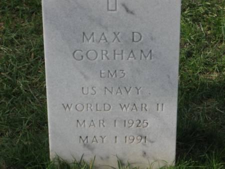 GORHAM, MAX  D. - Lee County, Iowa | MAX  D. GORHAM