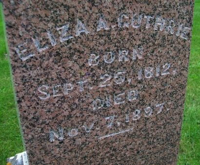 GUTHRIE, ELIZA ANN - Lee County, Iowa | ELIZA ANN GUTHRIE