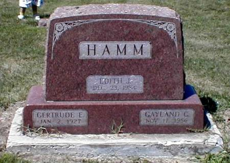 HAMM, EDITH - Lee County, Iowa | EDITH HAMM
