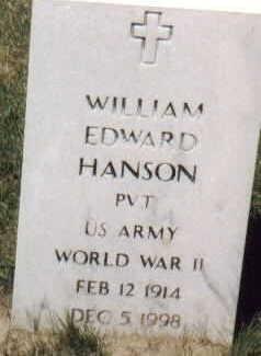 HANSON, WILLIAM EDWARD - Lee County, Iowa | WILLIAM EDWARD HANSON