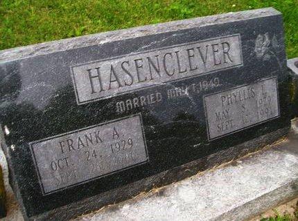 HASENCLEVER, PHYLLIS I. - Lee County, Iowa   PHYLLIS I. HASENCLEVER