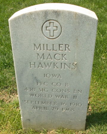 HAWKINS, MILLER MACK - Lee County, Iowa   MILLER MACK HAWKINS