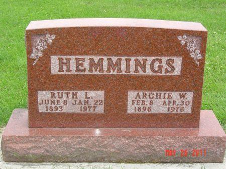 ADKISSON HEMMINGS, RUTH - Lee County, Iowa   RUTH ADKISSON HEMMINGS