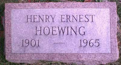 HOEWING, HENRY ERNEST - Lee County, Iowa   HENRY ERNEST HOEWING