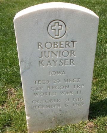 KAYSER, ROBERT JUNIOR - Lee County, Iowa   ROBERT JUNIOR KAYSER