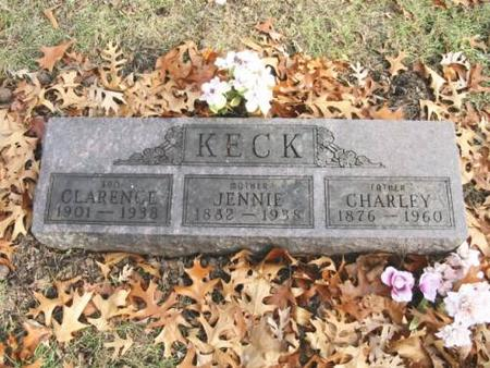 KECK, CHARLEY, JENNIE, CLARENCE - Lee County, Iowa | CHARLEY, JENNIE, CLARENCE KECK