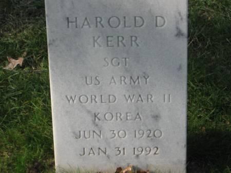 KERR, HAROLD  D. - Lee County, Iowa   HAROLD  D. KERR