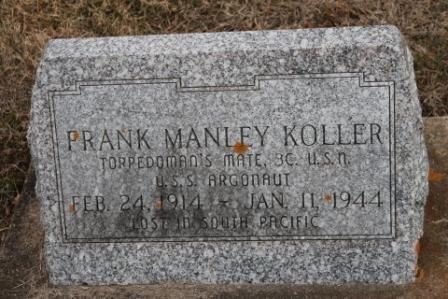 KOLLER, FRANK MANLEY - Lee County, Iowa   FRANK MANLEY KOLLER