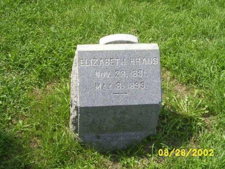 KRAUS, ELIZABETH 'WEIRATHER' - Lee County, Iowa | ELIZABETH 'WEIRATHER' KRAUS