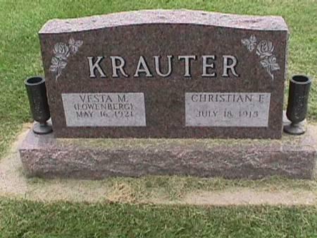 KRAUTER, CHRISTIAN F. - Lee County, Iowa | CHRISTIAN F. KRAUTER