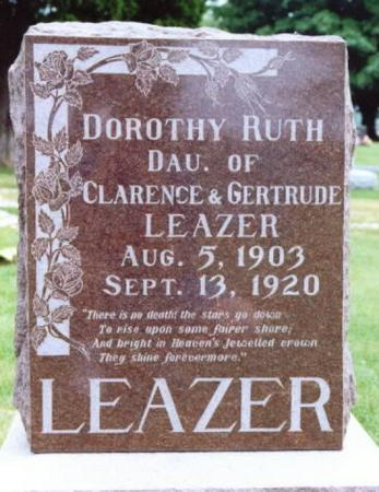 LEAZER, DOROTHY RUTH - Lee County, Iowa | DOROTHY RUTH LEAZER