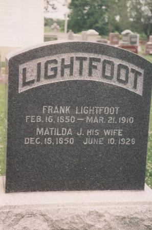 LIGHTFOOT, MATILDA J. - Lee County, Iowa | MATILDA J. LIGHTFOOT