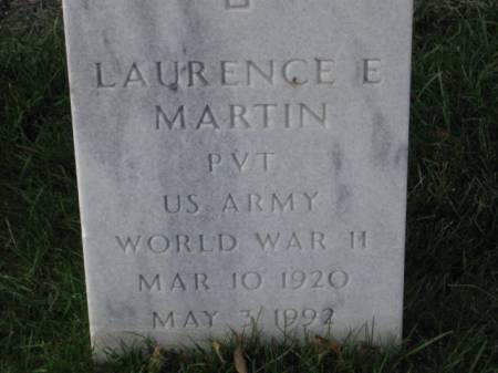 MARTIN, LAURENCE  E. - Lee County, Iowa | LAURENCE  E. MARTIN