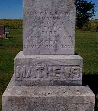 MATHEWS,, CHARLES B. - Lee County, Iowa | CHARLES B. MATHEWS,