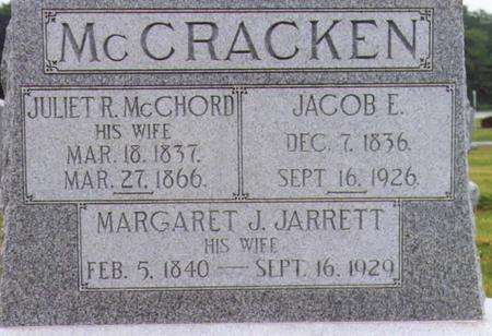 JARRETT MCCRACKEN, MARGARET J. - Lee County, Iowa | MARGARET J. JARRETT MCCRACKEN