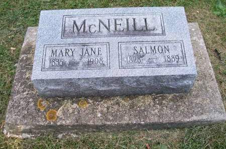 MCGREER MCNEILL, MARY JANE - Lee County, Iowa   MARY JANE MCGREER MCNEILL