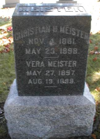 MEISTER, CHRISTIAN H. - Lee County, Iowa | CHRISTIAN H. MEISTER
