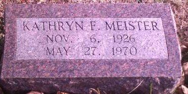 MEISTER, KATHRYN F. - Lee County, Iowa | KATHRYN F. MEISTER