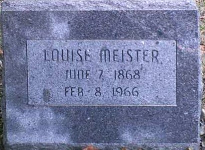 MEISTER, LOUISE - Lee County, Iowa | LOUISE MEISTER