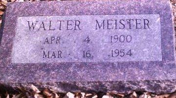 MEISTER, WALTER - Lee County, Iowa   WALTER MEISTER