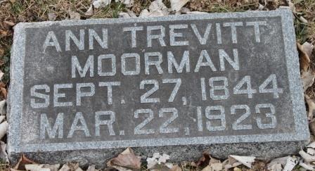 TREVITT MOORMAN, ANN - Lee County, Iowa   ANN TREVITT MOORMAN
