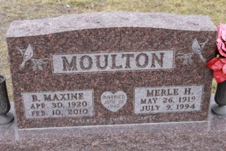 MOULTON, B. MAXINE - Lee County, Iowa | B. MAXINE MOULTON