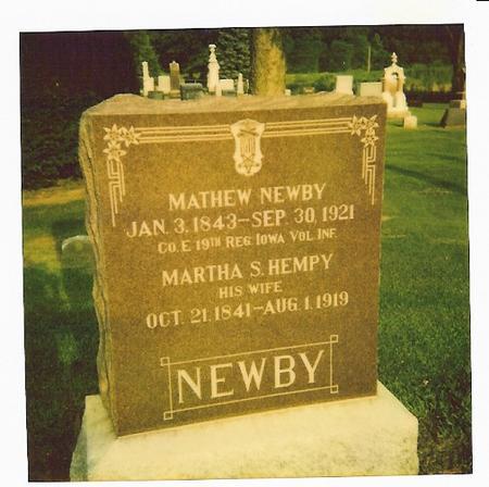 NEWBY, MARTHA - Lee County, Iowa | MARTHA NEWBY