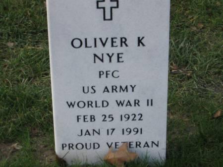 NYE, OLIVER   K. - Lee County, Iowa   OLIVER   K. NYE