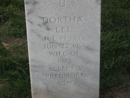 PREDMORE, DORTHA  LEE - Lee County, Iowa   DORTHA  LEE PREDMORE