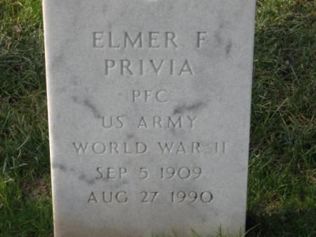 PRIVIA, ELMER   F. - Lee County, Iowa   ELMER   F. PRIVIA