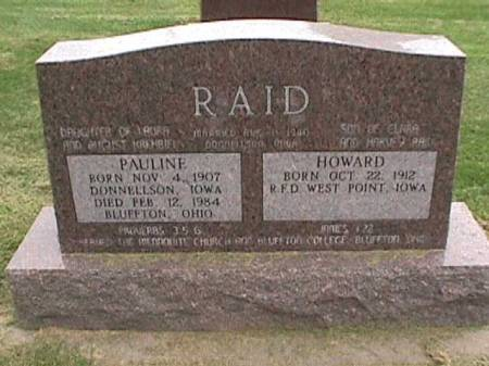 RAID, HOWARD - Lee County, Iowa | HOWARD RAID