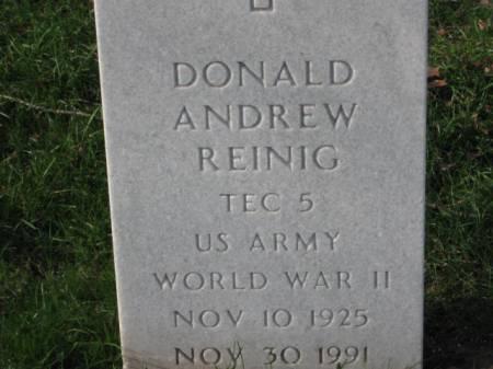 REINIG, DONALD  ANDREW - Lee County, Iowa | DONALD  ANDREW REINIG