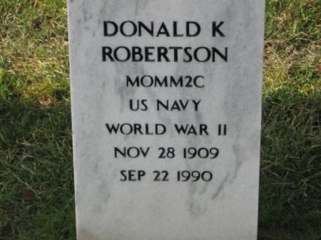 ROBERTSON, DONALD   K. - Lee County, Iowa | DONALD   K. ROBERTSON