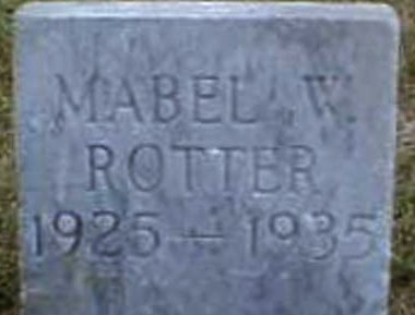 W. ROTTER, MABEL - Lee County, Iowa | MABEL W. ROTTER
